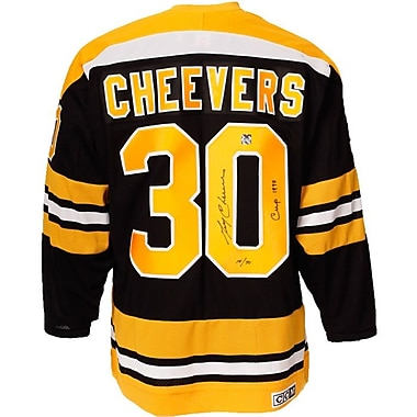 Heritage Hockey – Maillot des Bruins de Boston signé par Gerry Cheevers (20364)