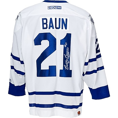 Heritage Hockey – Maillot des Maple Leafs de Toronto signé par Bobby Baun (20428)