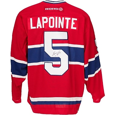 Heritage Hockey Guy Lapointe Signed Montreal Canadiens Jersey (20481)
