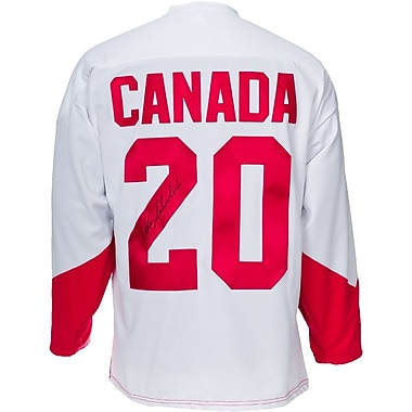 Heritage Hockey Peter Mahovlich Signed Team Canada 1972 Summit Series Jersey (20821)