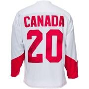 Heritage Hockey – Maillot Équipe Canada Série du siècle 1972 signé par Peter Mahovlich (20821)