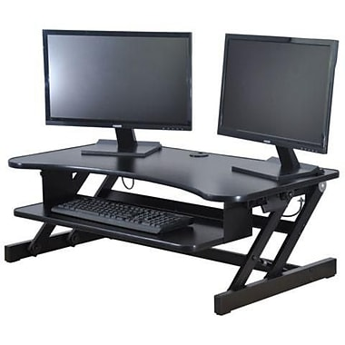 monitor adjustable desk stand product sit dual riser converter height rosewill standing