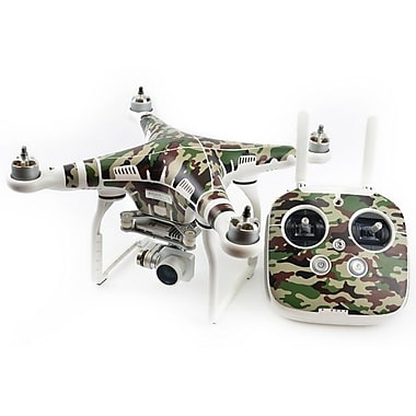 PGY PVC Waterproof Skin Decal Stickers for DJI Phantom 3 Drone & Remote, Forest Camouflage (PGY10P3S-CA3)