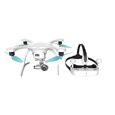 Ehang Ghostdrone 2.0 Drone with VR Goggles (Apple iOS Compatible), White (GVRS2A0WFC)