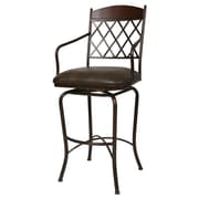 Fleur De Lis Living Barnathan 30'' Swivel Bar Stool w/ Cushion