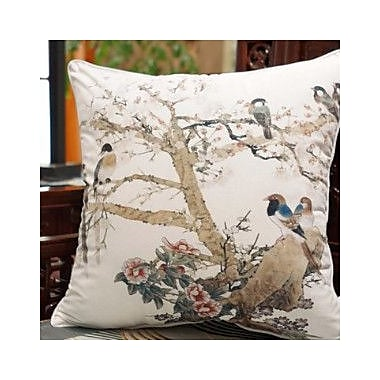 G Home Collection Bird Printing Throw Pillow; White