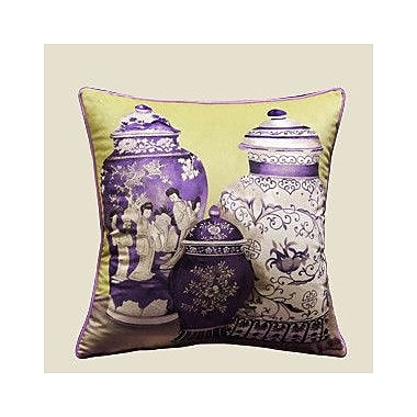 G Home Collection Vase Throw Pillow; Purple/Yellow