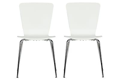 Novogratz Bentwood Solid Wood Dining Chair (Set of 2); White