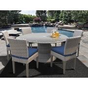 TK Classics Oasis 7 Piece Dining Set w/ Cushions; Navy