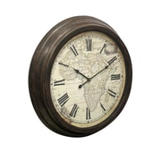 World Menagerie Oren 23'' Lily Antique Wall Clock