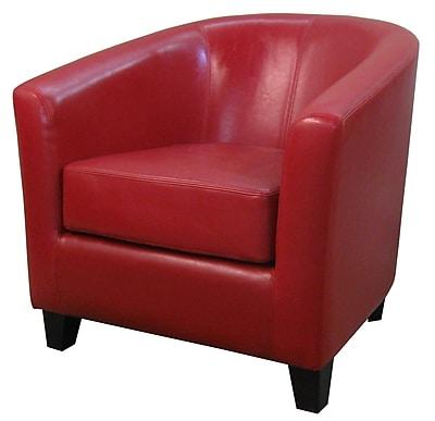 Orren Ellis Teesha Solid Barrel Chair; Red