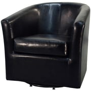 Orren Ellis Teesha Barrel Chair; Black