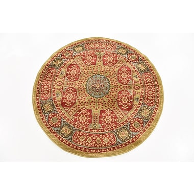 Astoria Grand Laurelwood Red Area Rug; Round 3'3''