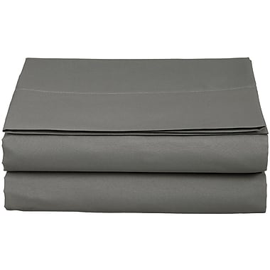 ELEGANT COMFORT 1500 Thread Count Fitted Sheet; Gray