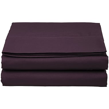 ELEGANT COMFORT 1500 Thread Count Fitted Sheet; Purple