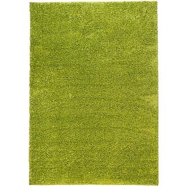 Ebern Designs Reynolds Plain Solid Green Area Rug; 6'7'' x 9'10''