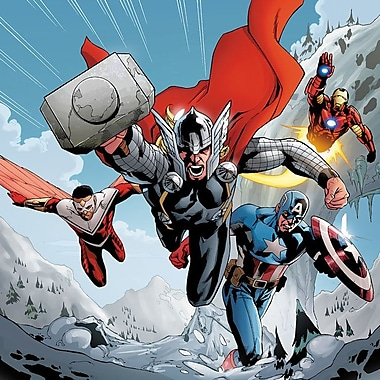 iCanvas 'Avengers Assemble Team' by Marvel Comics Graphic Art on Wrapped Canvas