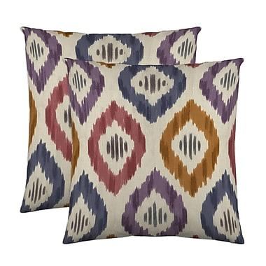 Belle Maison Aura Throw Pillow (Set of 2); Prism