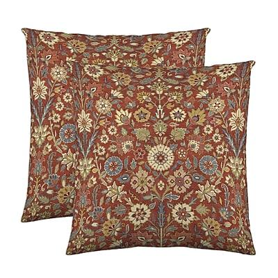 Belle Maison Indira Cotton Throw Pillow (Set of 2); Crimson