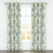 Belle Maison Bella Curtain Panels (Set of 2); Cerulean