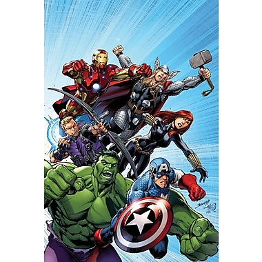 iCanvas 'Marvel Avengers' by Marvel Comics Graphic Art on Wrapped Canvas; 12'' H x 8'' W x 0.75'' D