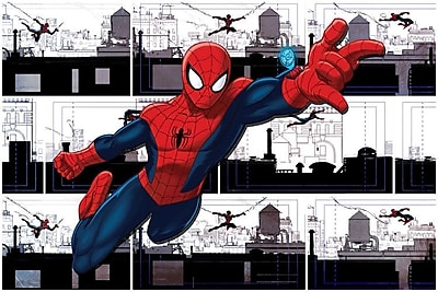 iCanvas 'Marvel Ultimate Spider-Man Swinging' by Marvel Comics Graphic Art on Wrapped Canvas