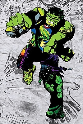 iCanvas 'Hulk Super Silhoutte Collage' by Marvel Comics Graphic Art on Wrapped Canvas