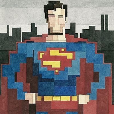 iCanvas 'Superman #2' by Adam Lister Graphic Art on Wrapped Canvas; 18'' H x 18'' W x 0.75'' D