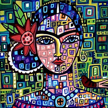 East Urban Home 'Frida' Square Painting Print on Wrapped Canvas; 18'' H x 18'' W x 0.75'' D