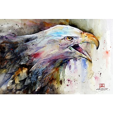 East Urban Home 'Eagle' Rectangle Painting Print on Wrapped Canvas; 18'' H x 26'' W x 1.5'' D