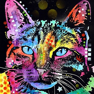 Varick Gallery Thoughtful Cat Graphic Art on Wrapped Canvas; 37'' H x 37'' W x 1.5'' D