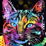 Varick Gallery Thoughtful Cat Graphic Art on Wrapped Canvas; 18'' H x 18'' W x 0.75'' D
