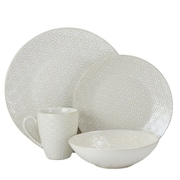 Elama Terrace Textured 4 Piece Place Setting
