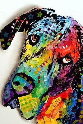 East Urban Home Tilted Dane Graphic Art on Wrapped Canvas; 40'' H x 26'' W x 0.75'' D