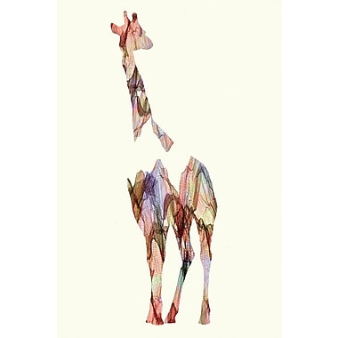 Varick Gallery Giraffe Graphic Art on Wrapped Canvas; 40'' H x 26'' W x 0.75'' D