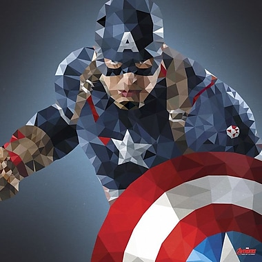 iCanvas 'Captain America Derezzed' by Marvel Comics Graphic Art on Wrapped Canvas