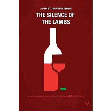 Varick Gallery Silence of the Lambs Minimal Movie Poster Vintage Advertisement on Wrapped Canvas