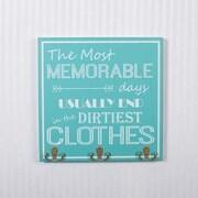 Adams & Co Hook Board Wall Mounted Coat Rack; Tiffany / White