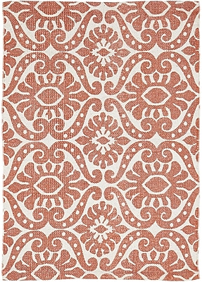 Bungalow Rose Armagh Orange Area Rug; 1'8'' x 2'6''