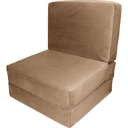 Ebern Designs Bator Convertible Chair; Suede Khaki