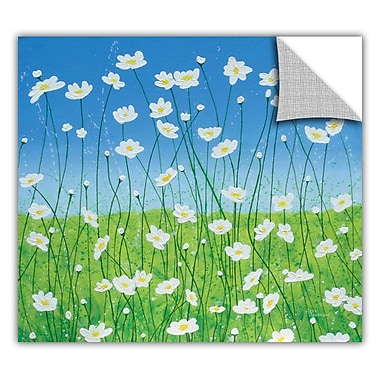 ArtWall ArtApeelz 'Jesse's Daisies' by Herb Dickinson Painting Print Removable Wall Decal