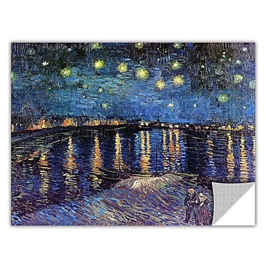 ArtApeelz 'Starry Night over the Rhone' by Vincent Van Gogh Painting Print Removable Wall Decal