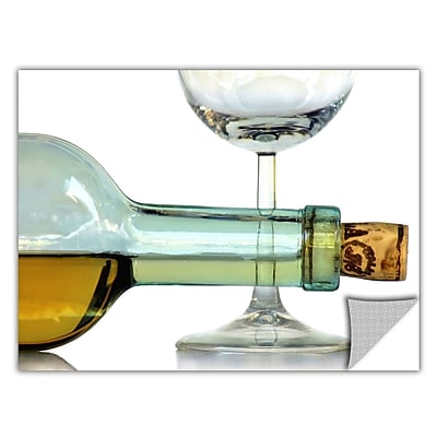 ArtWall ArtApeelz 'Bottle Plus Glass' by Dan Holm Photographic Print Removable Wall Decal WYF078277293121