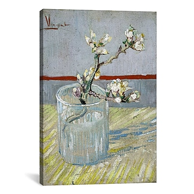 iCanvas ''Sprint of Flowering Almond Blossom'' by Vincent Van Gogh Painting Print on Canvas