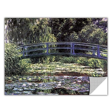ArtWall ArtApeelz 'Bridge at Sea Rose Pond' by Claude Monet Painting Print Removable Wall Decal