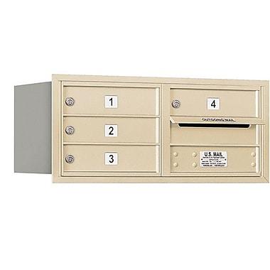 Salsbury Industries 4 Door Rear Load 4C Horizontal Mail Center; Sandstone