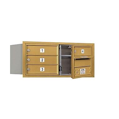 Salsbury Industries 4 Door Front Load 4C Horizontal Mail Center; Gold