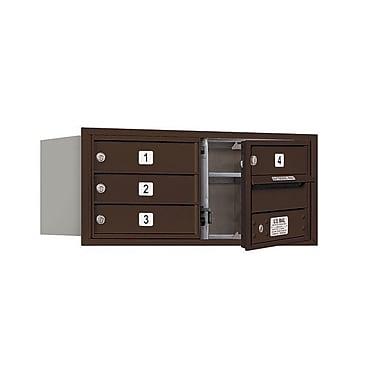 Salsbury Industries 4 Door Front Load 4C Horizontal Mail Center; Bronze