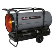 650,000 BTU Portable Kerosene Forced Air Utility Heater w/ Built in Diagnostic and Flat-Free Wheels