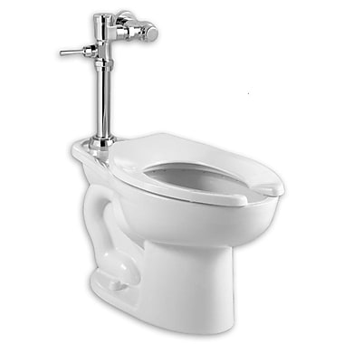 American Standard Madera Elongated System Manual Flush Valve Dual Flush Elongated One-Piece Toilet